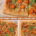 Recipe for Butternut Squash, Leek & Stilton Tart