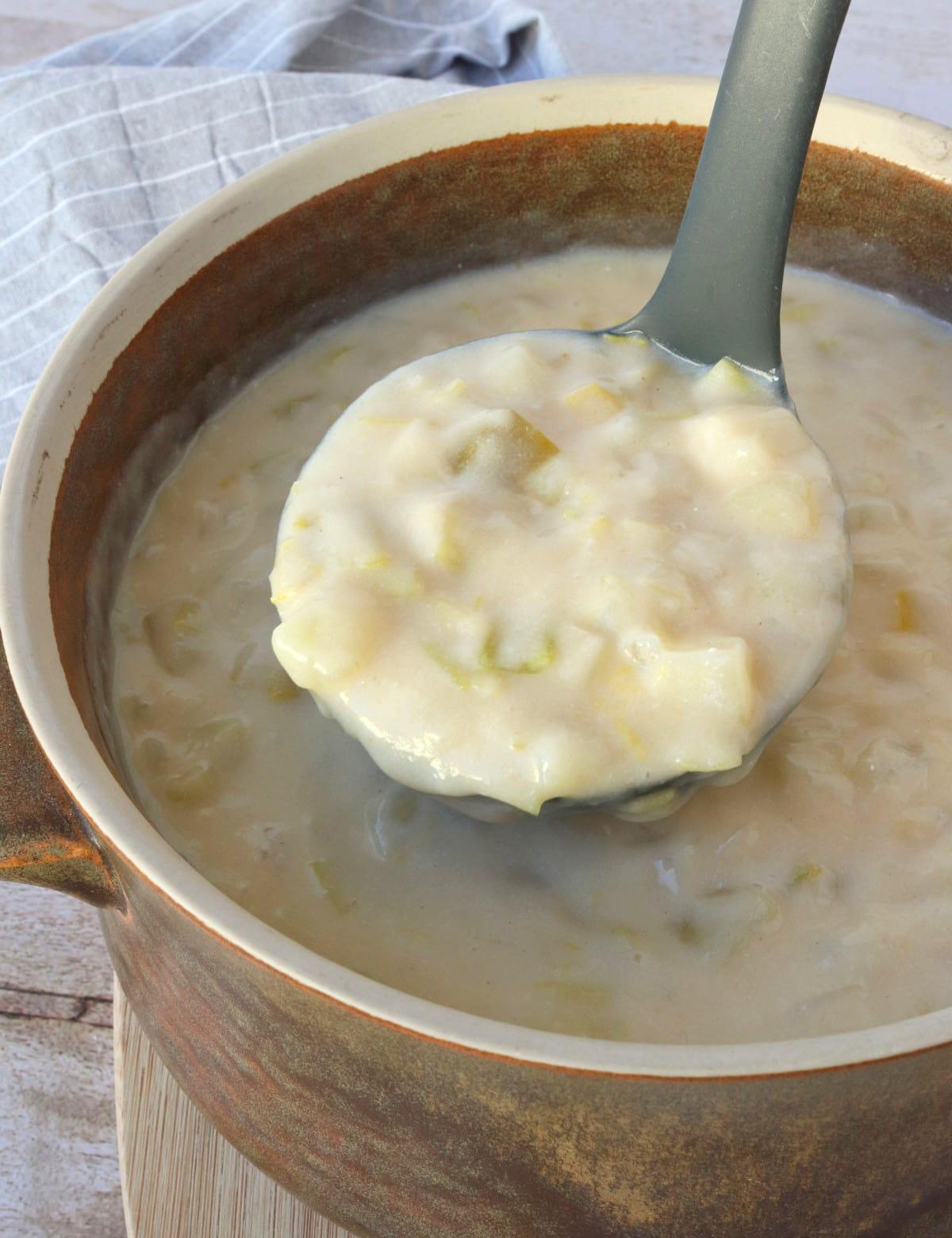 Cheesy Potato & Leek Soup