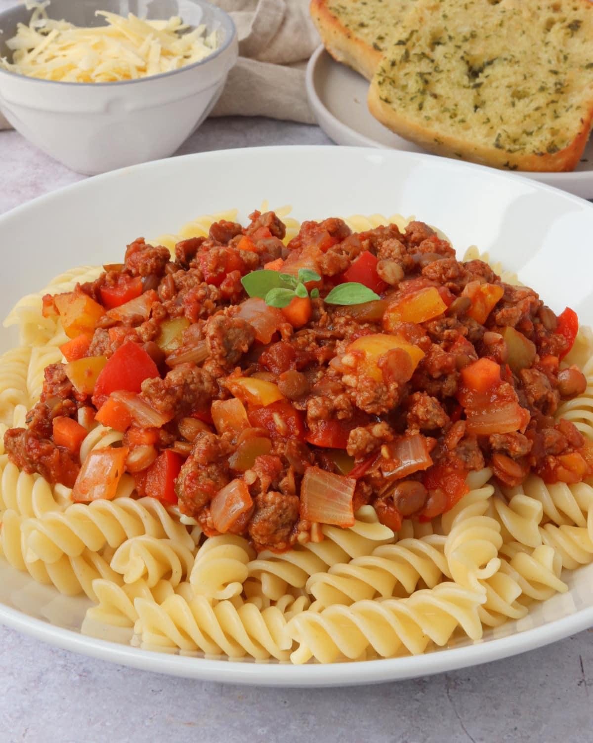 Vegetarian Quorn & Lentil Bolognese