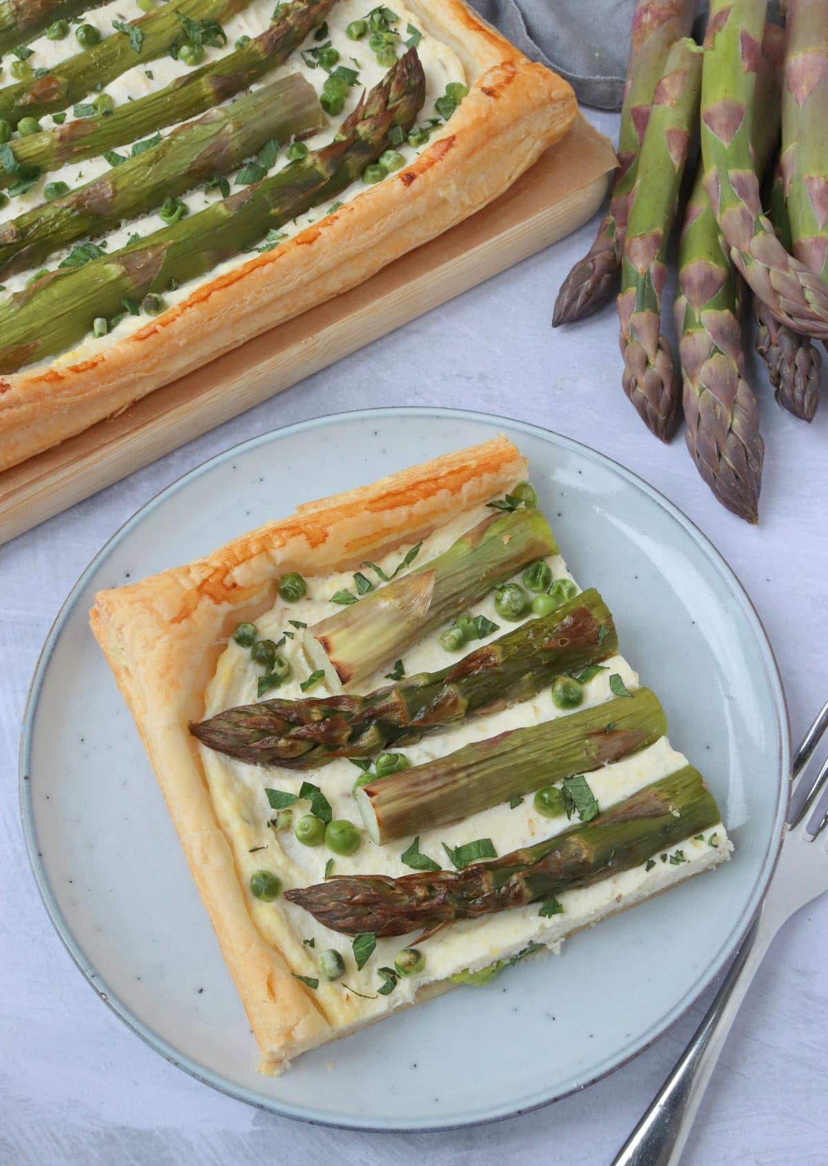 Asparagus & Ricotta Tart