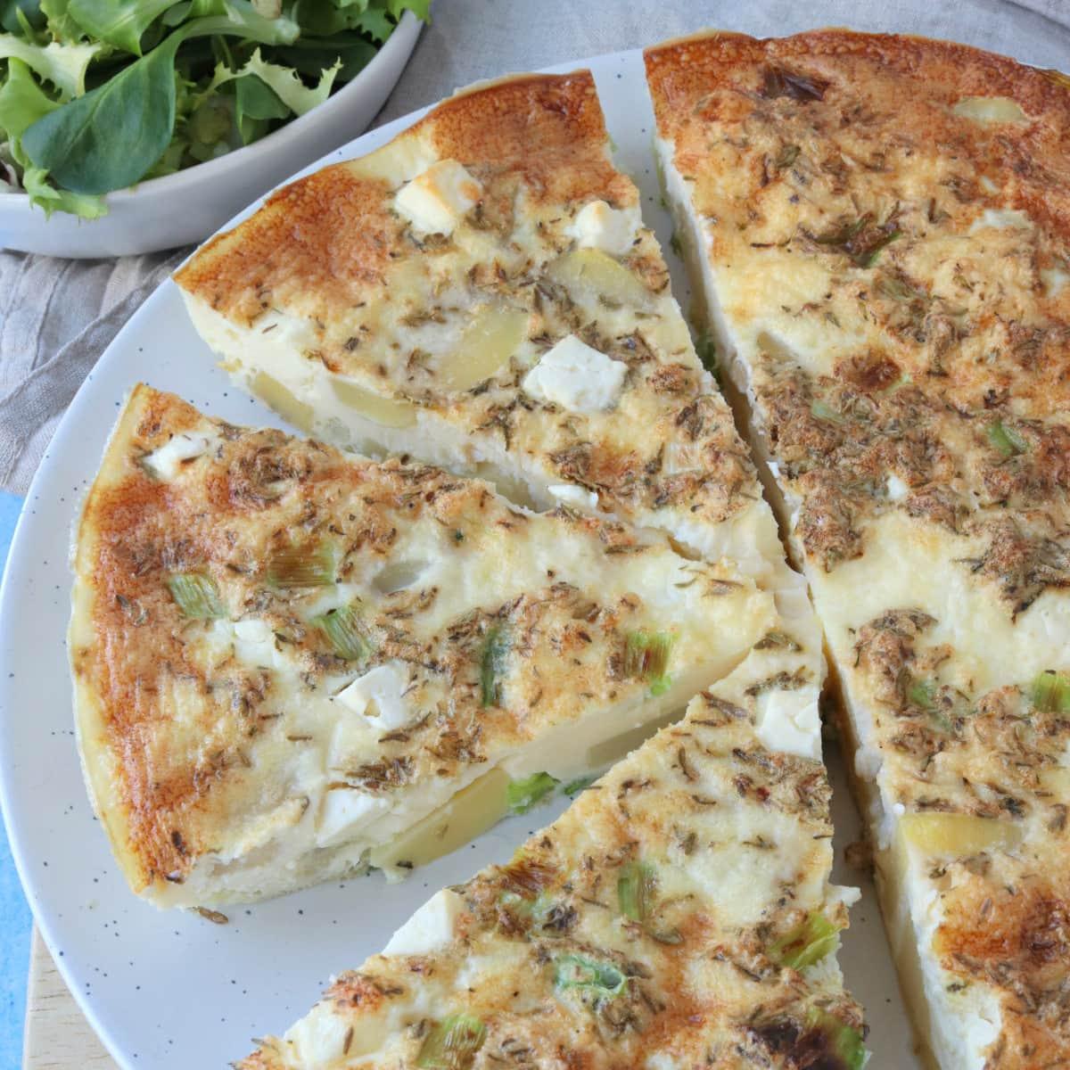 Potato, Spring Onion & Feta Frittata