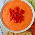 Roasted Red Pepper Hummus Dip