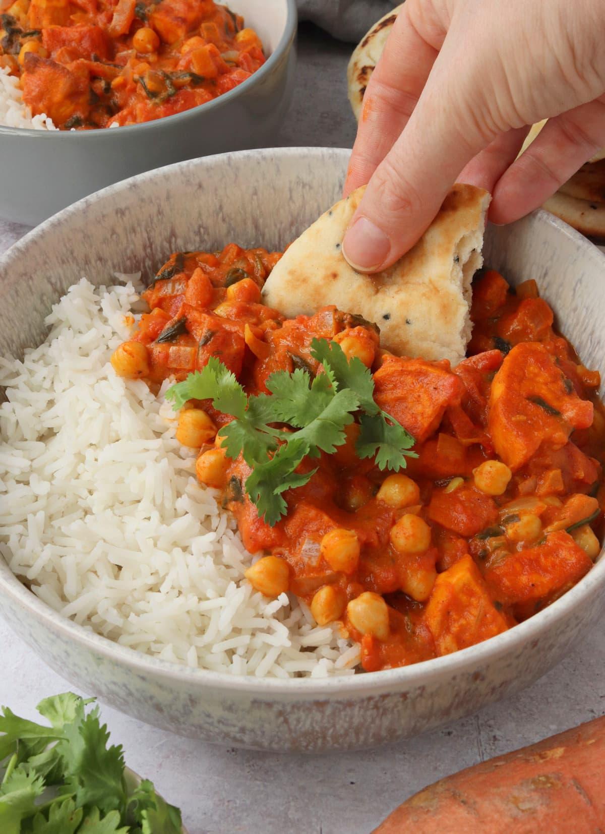 Sweet Potato & Chickpea Curry